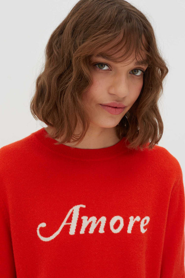 Vermillion Amore Wool-Cashmere Sweater image 5
