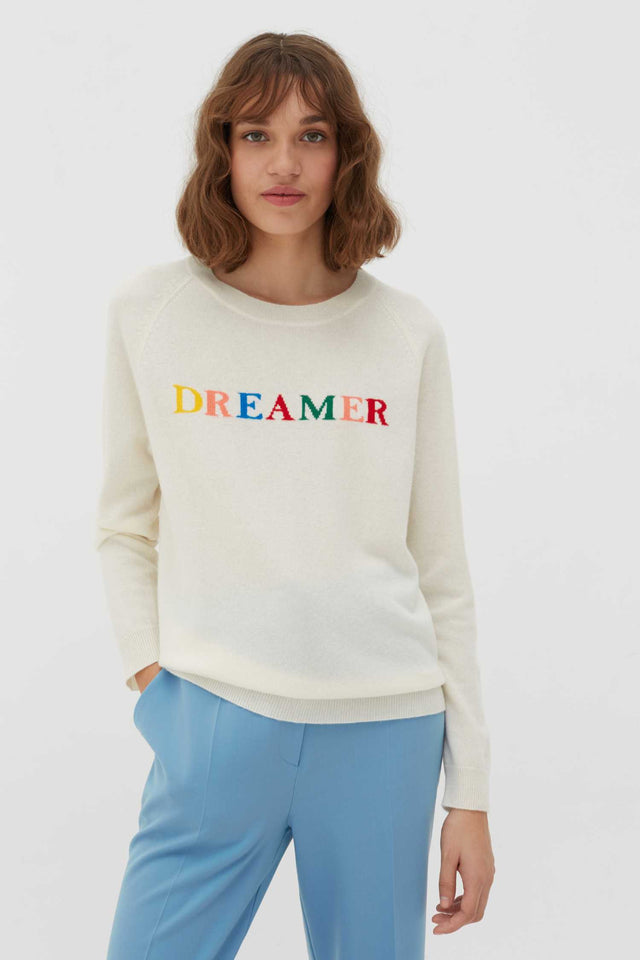 Cream Dreamer Wool-Cashmere Sweater image 1