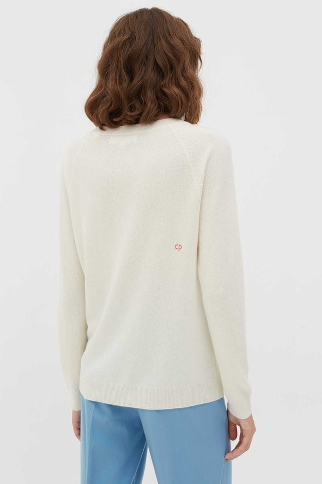 Cream Dreamer Wool-Cashmere Sweater image 3