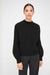 Black Rib-Knit Cashmere Sweater