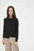 Black Contrast Trim Cashmere Sweater