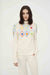 Cream Embroidered Wool-Cashmere Roll Neck Sweater