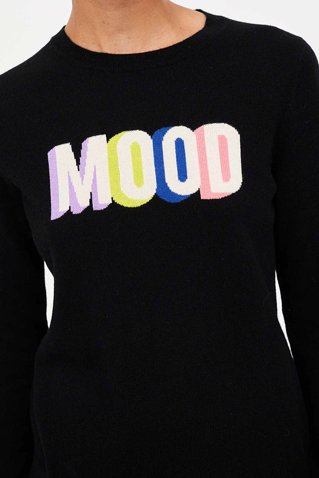 Black Mood Slogan Wool-Cashmere Sweater image 3