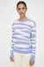 Sky-Blue Zebra Wool-Cashmere Sweater