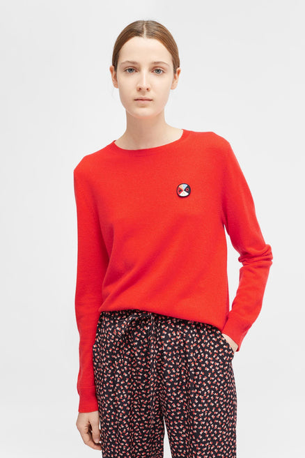 Red Mexicano Love Badge Sweater