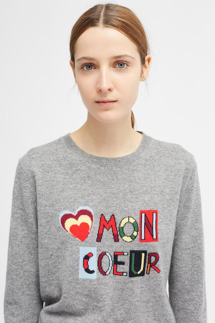 Grey Mon Coeur Sweater