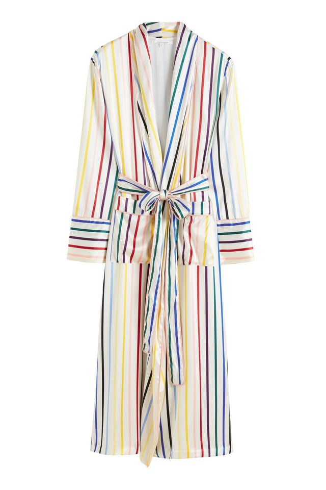 Rainbow Striped Silk Dressing Gown image 2