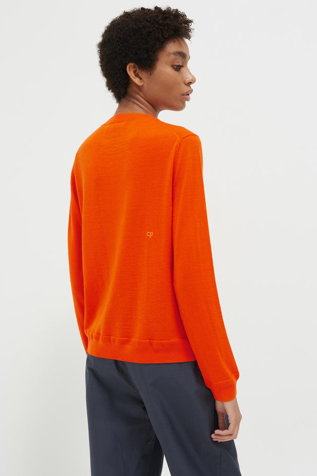Orange Anchor Badge Cashmere Sweater image 5