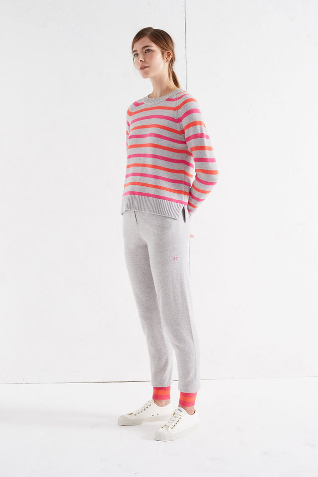 Grey Multi Breton Cashmere Sweater image 3