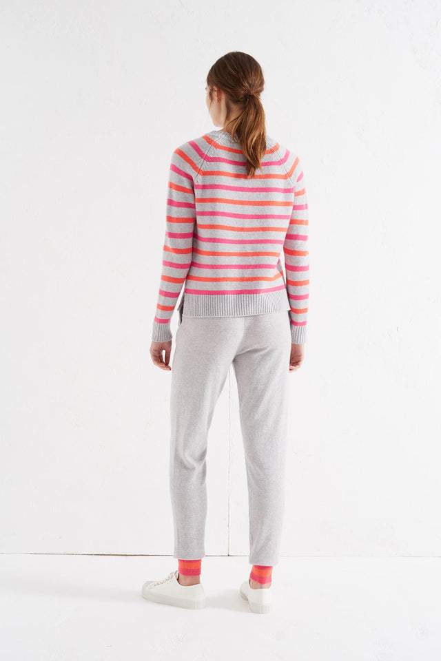 Grey Multi Breton Cashmere Sweater image 4