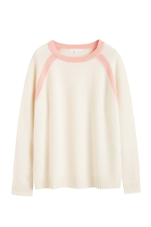 Cream Pop Colour Cashmere Sweater image 2
