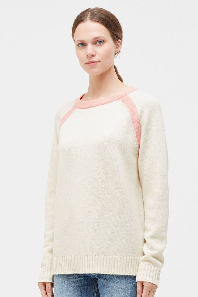 Cream Pop Colour Cashmere Sweater image 1