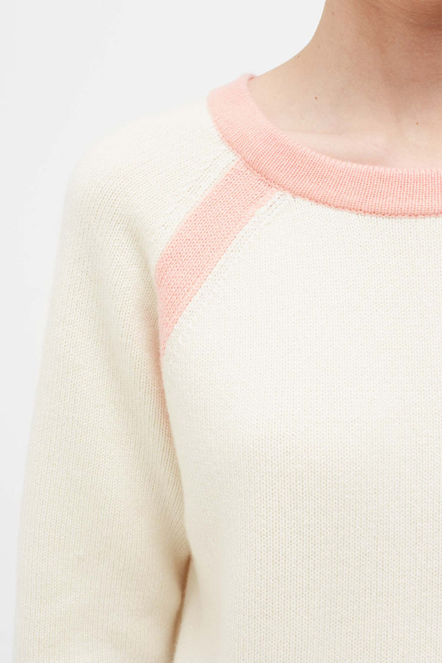 Cream Pop Colour Cashmere Sweater image 4
