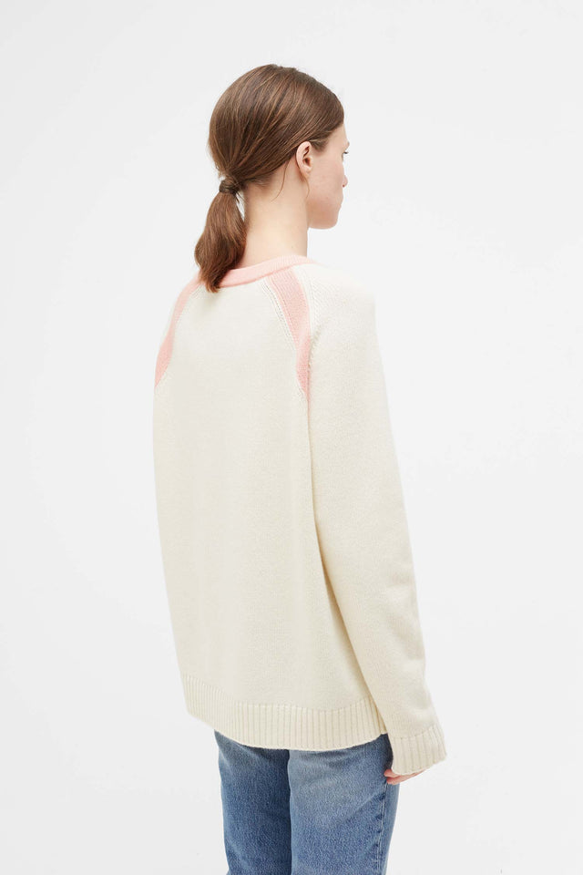 Cream Pop Colour Cashmere Sweater image 3