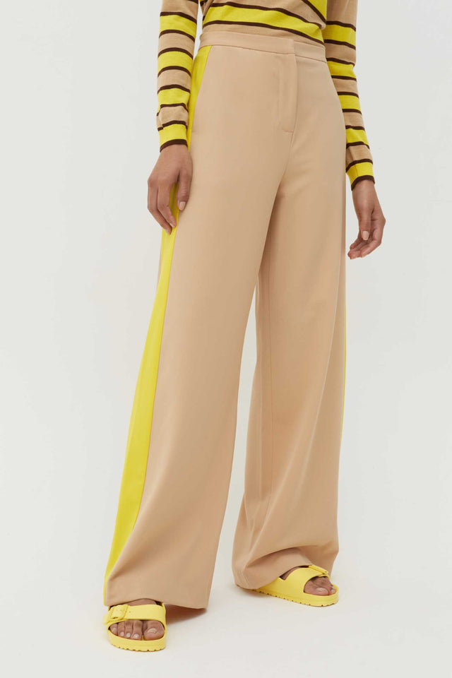 Biscotti Wool-Twill Wide-Leg Trousers image 1