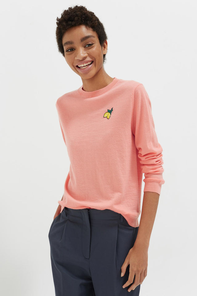 Pink Lemon Badge Cashmere Sweater image 1