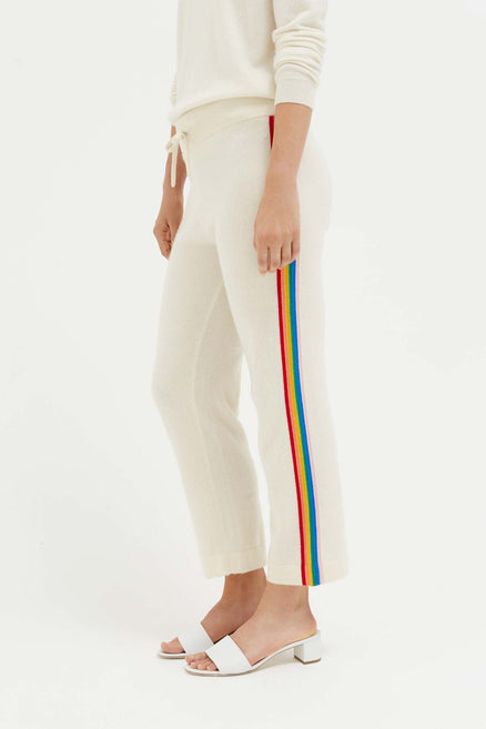Cream Cashmere Rainbow Track Pants