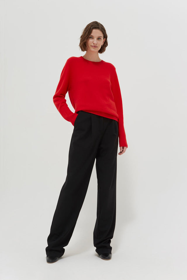 Red Cashmere Boxy Sweater image 2
