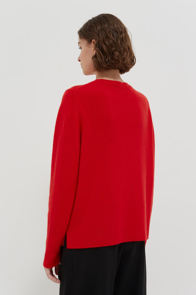 Red Cashmere Boxy Sweater image 3