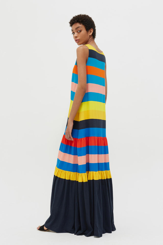 Rainbow Sunset Holiday Organic Jersey Maxi Dress image 5