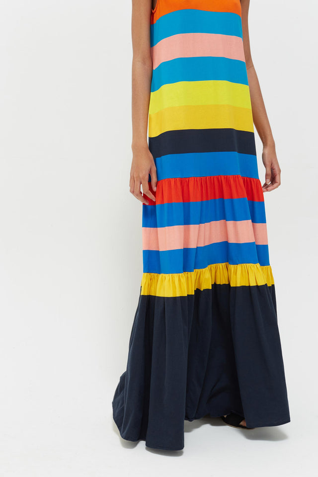 Rainbow Sunset Holiday Organic Jersey Maxi Dress image 6