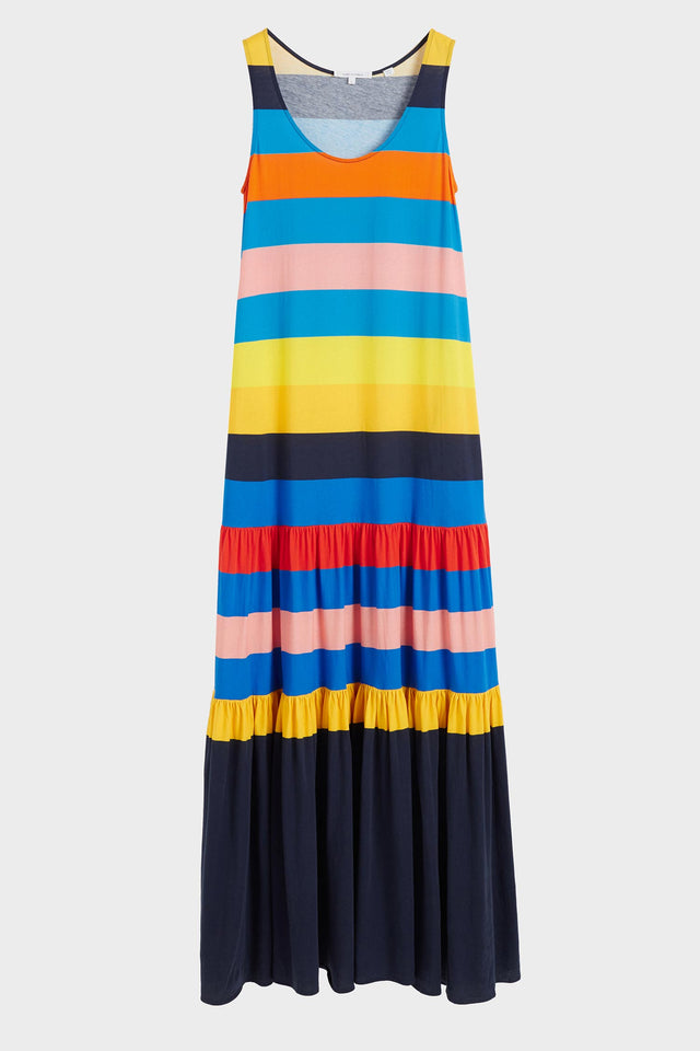 Rainbow Sunset Holiday Organic Jersey Maxi Dress image 2