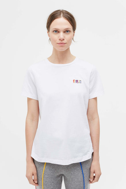 White Fun Short Sleeve T-Shirt