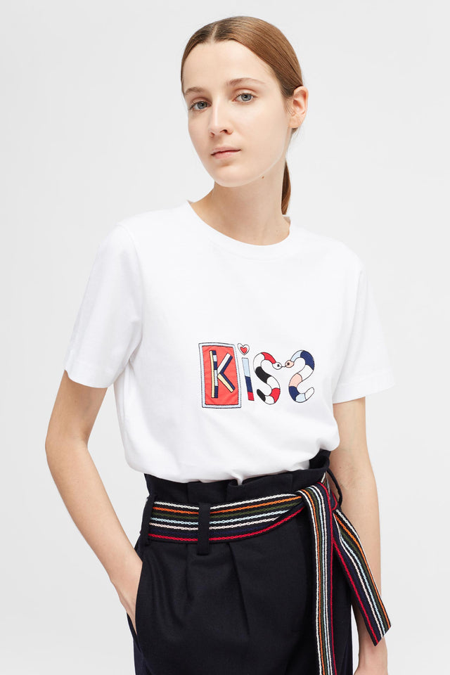 White Short Sleeve Mexican Kiss T-Shirt image 1