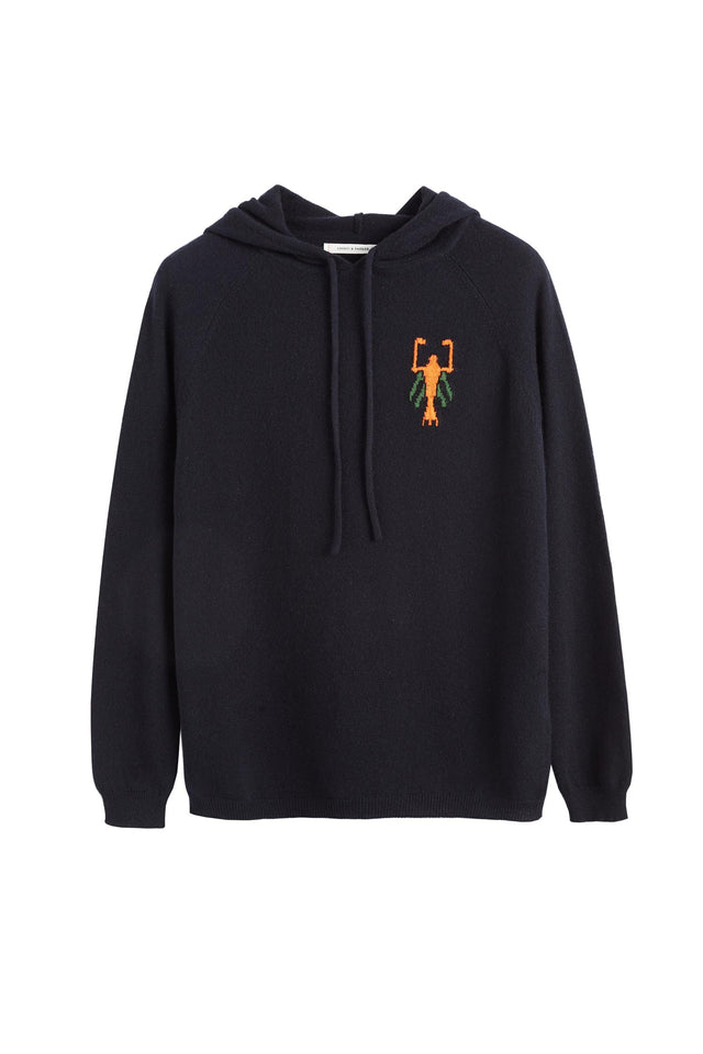 Navy Scorpion Patch Hoodie image 2