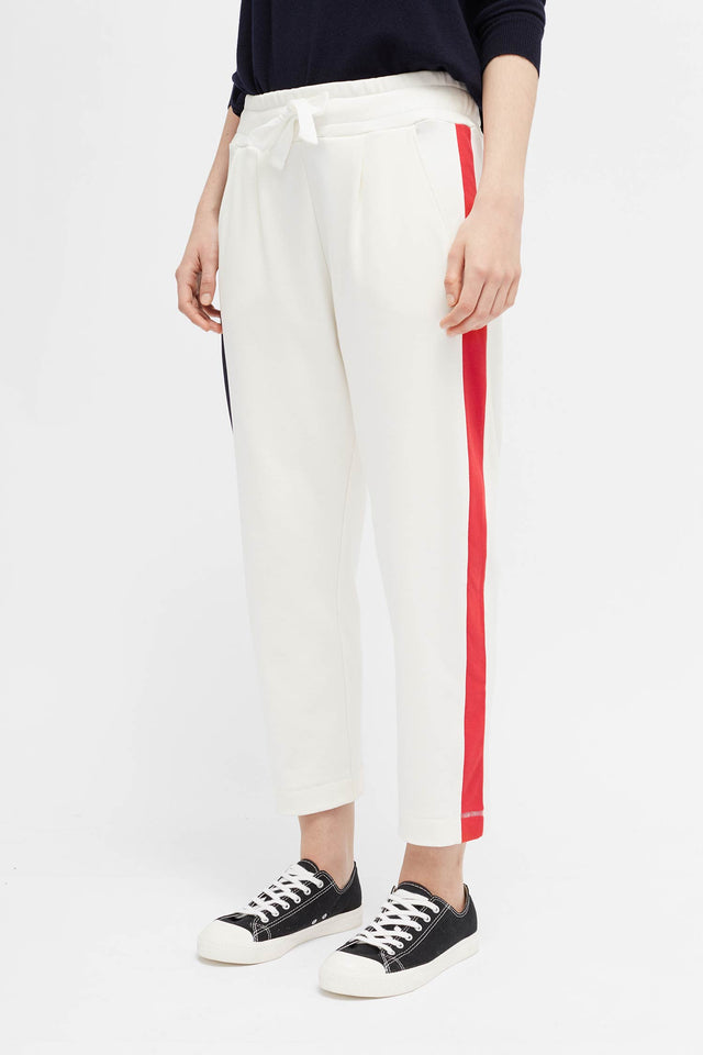 Ivory Side Panel Track Pants image 3