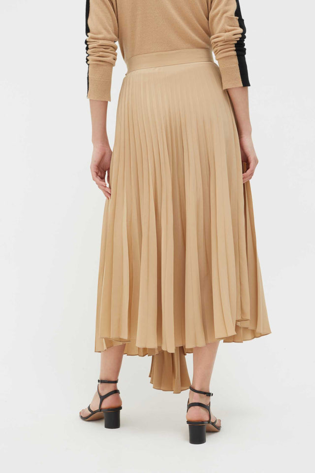Biscotti Crepe Asymmetric Pleated Skirt image 2