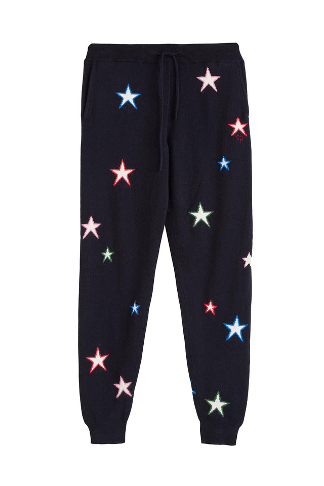 Navy Star Track Pants 3D image 2