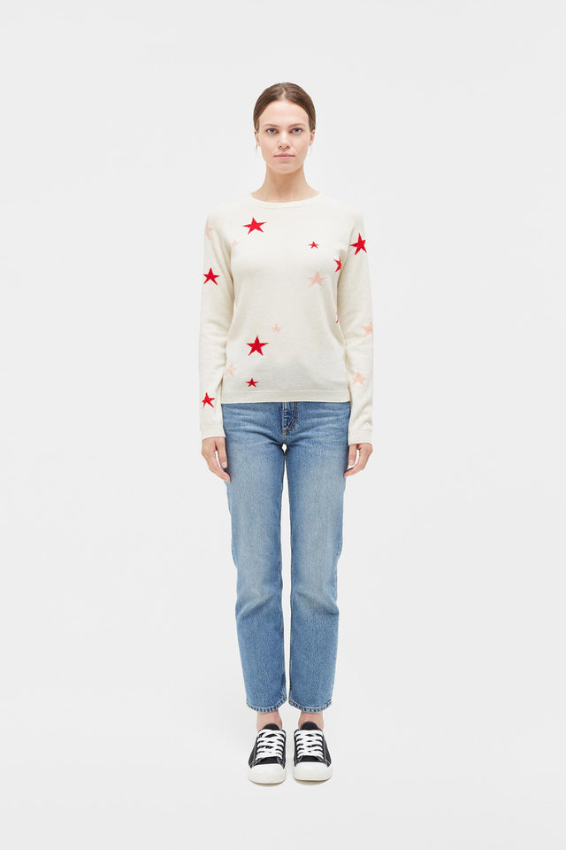 Cream Star Cashmere Sweater image 2