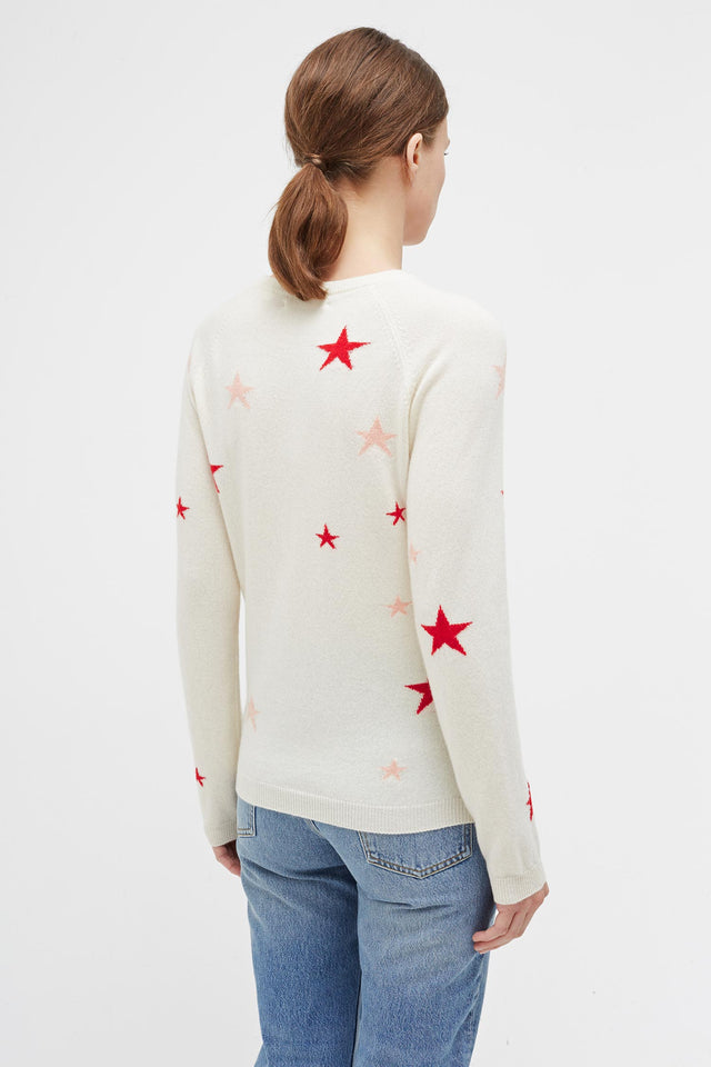 Cream Star Cashmere Sweater image 3