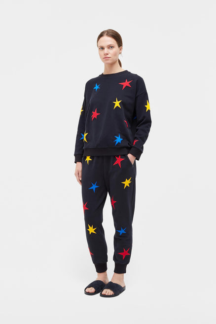 Navy Star Applique Sweatshirt