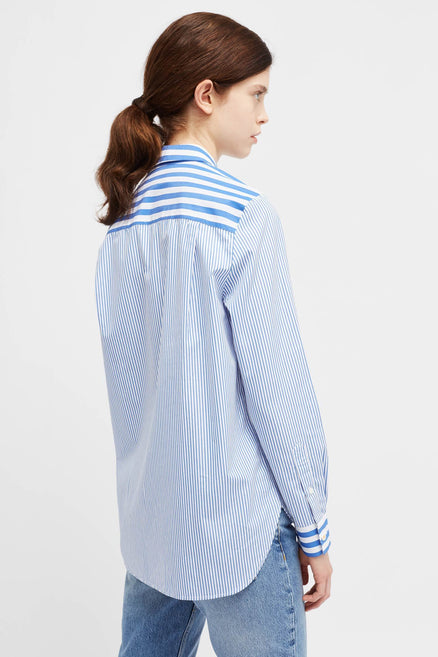 Navy Stripe Boyfriend Shirt