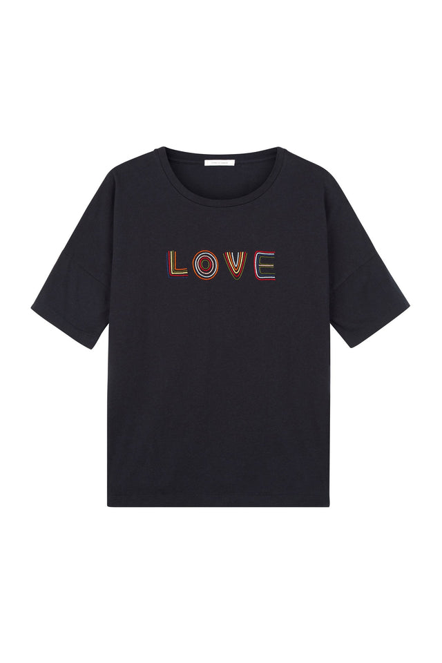 Navy Short Sleeve Carmen Love T-Shirt image 2