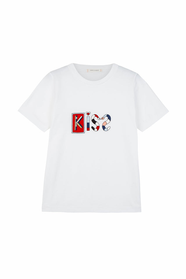 White Short Sleeve Mexican Kiss T-Shirt image 2