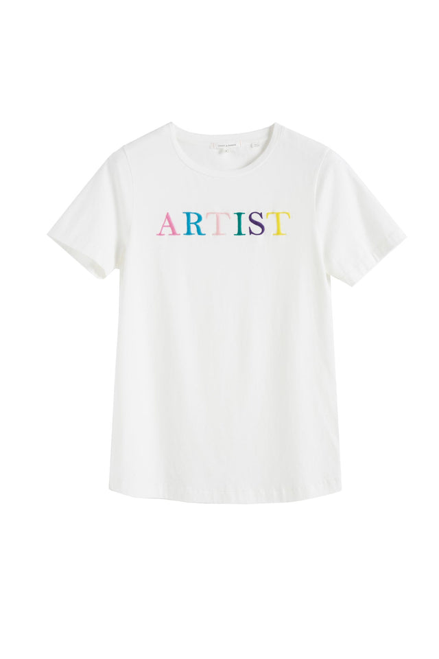 White Artist Cotton T-Shirt image 2