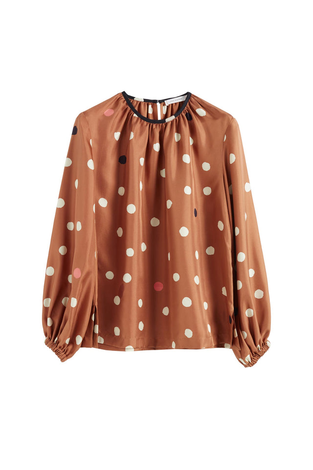 Ginger Painted Spot Silk Blouse image 2