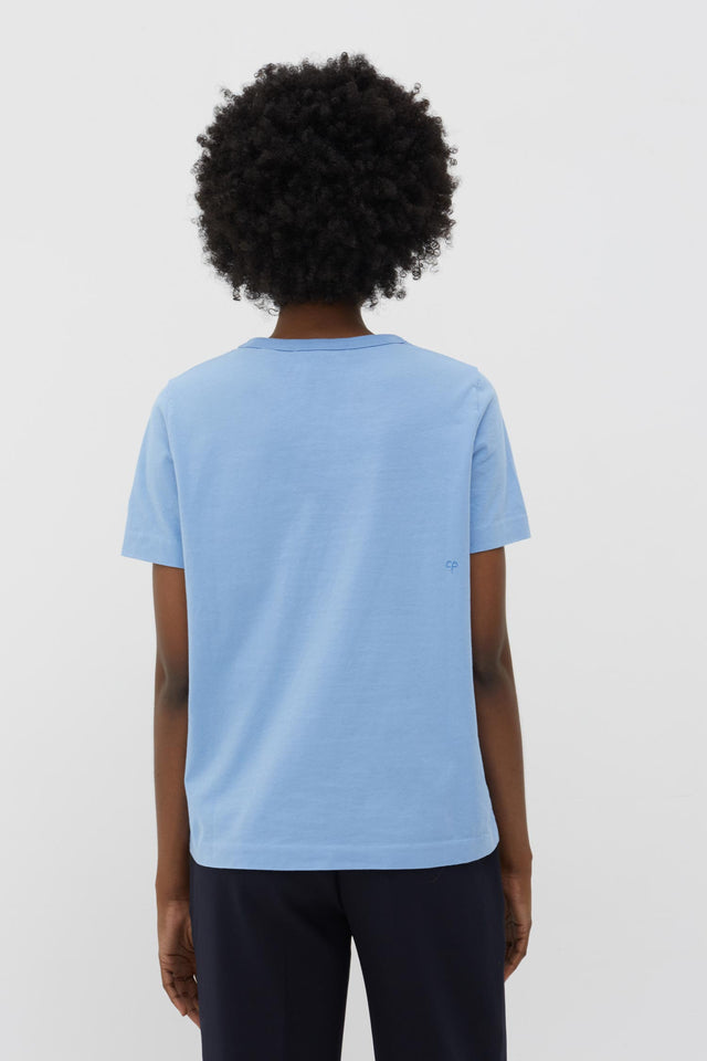Sky-Blue Anni Heart Cotton T-Shirt image 3