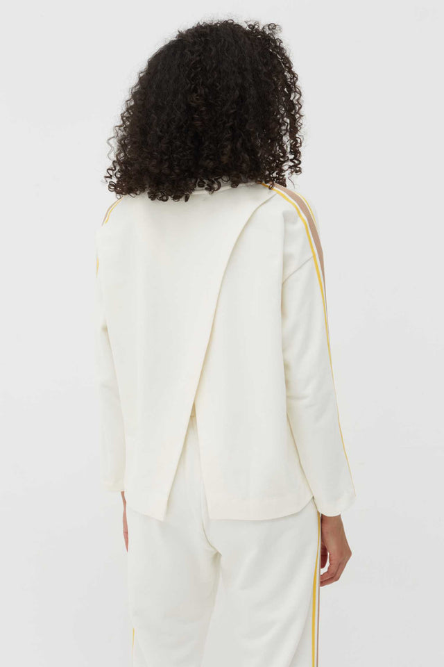 Off-White Open-Back Cotton Sweatshirt image 2