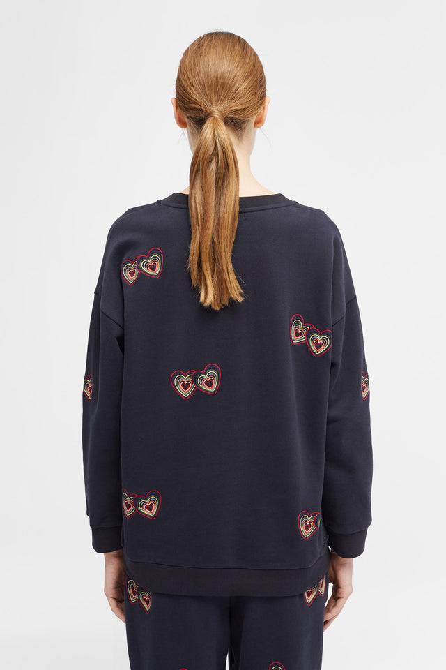 Navy Twin Heart Sweatshirt image 4