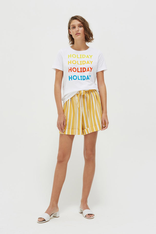 White Holiday Cotton Jersey T-Shirt image 4