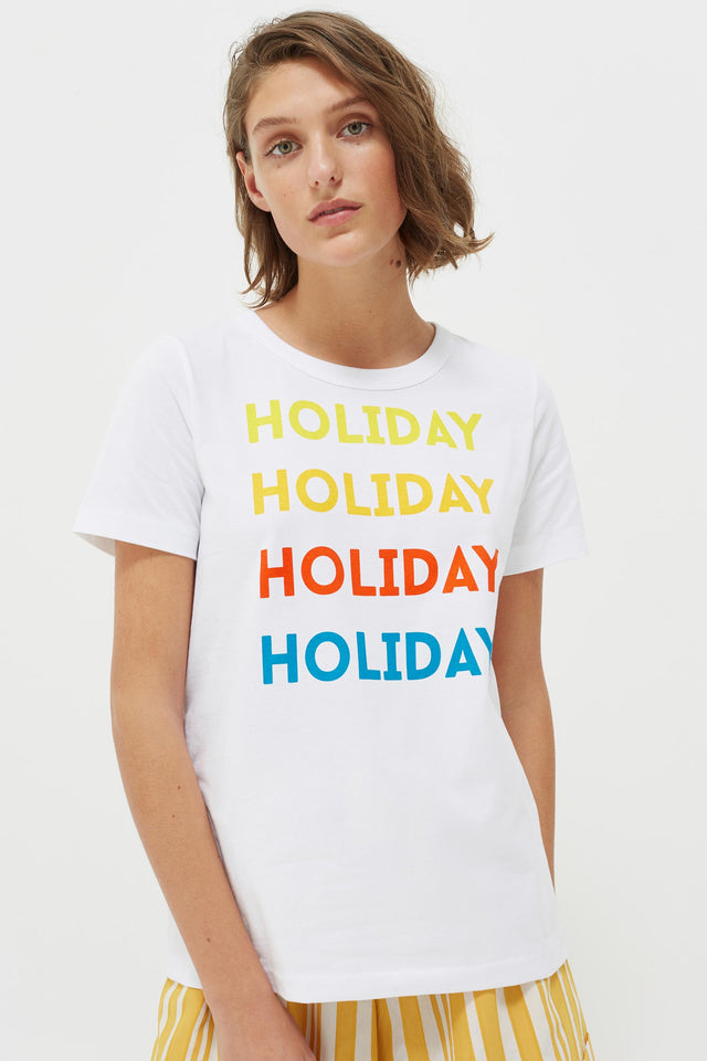 White Holiday Cotton Jersey T-Shirt image 1
