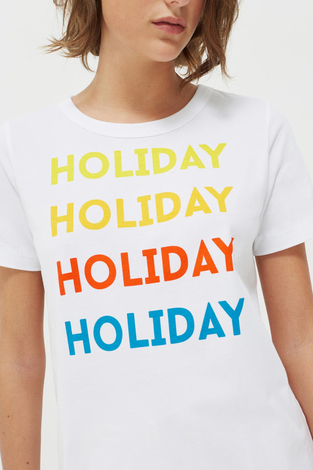 White Holiday Cotton Jersey T-Shirt image 5