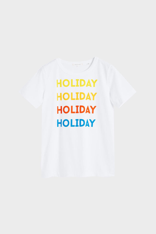 White Holiday Cotton Jersey T-Shirt image 2