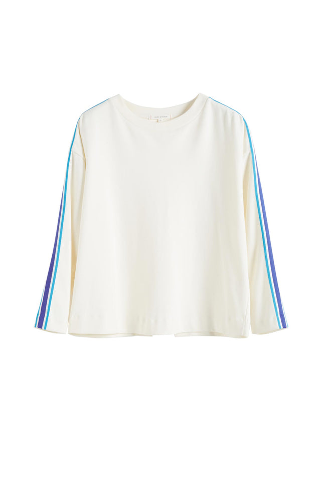 Off White Open Back Brushed Cotton Sweatshirt image 2