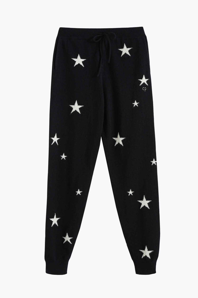 Black Star Cashmere Track Pants image 2