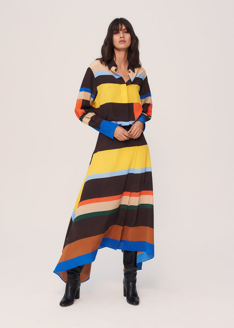 Multicoloured Modernity Silk Crepe De Chine Shirt